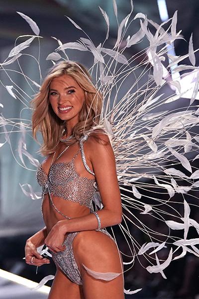 Swedish model Elsa Hosk walks the runway at the 2018 Victoria's Secre