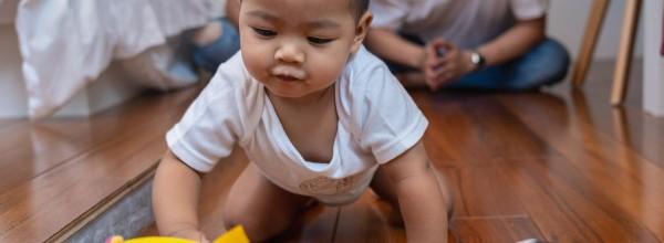 bebe-asiatico-gatear-jugar-pelota-piso-madera_41418-2435