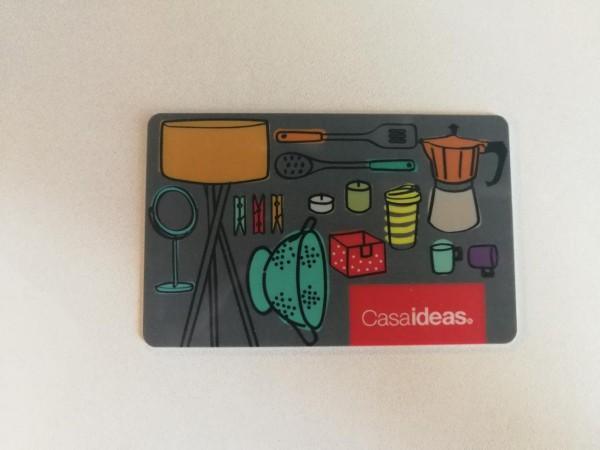 Con esta giftcard podrás elegir lo que quieras en tiendas Casa Ideas para decorar tu hogar.