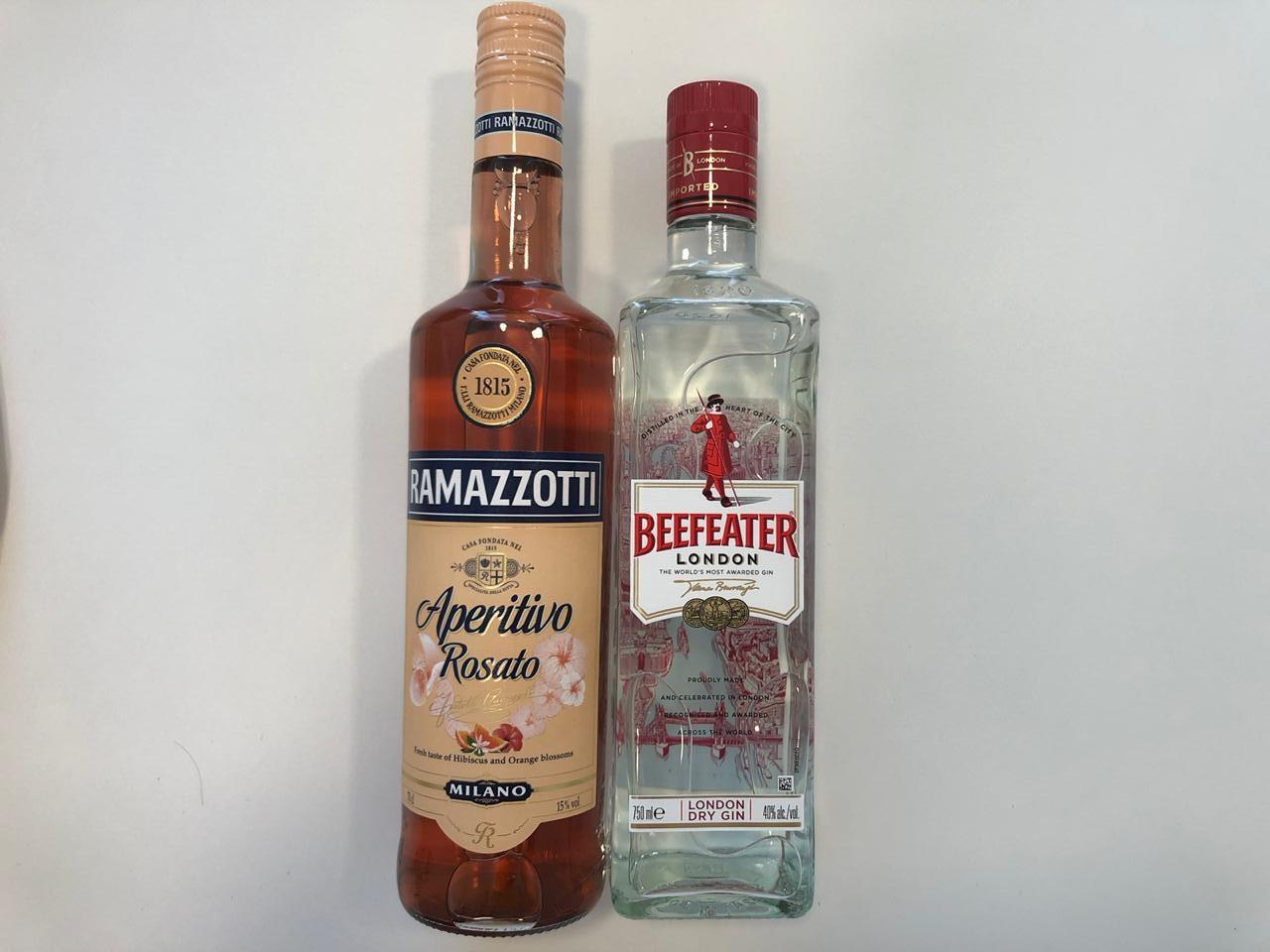 Estas botellas de Beefeter y Ramazzotti son perfectos para cualquier velada romántica.