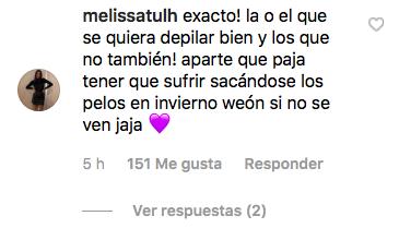 Comentarios en la publicación de @rociotoscanoactriz