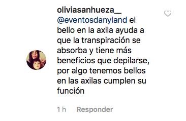 Comentarios publicados en Instagram de @rociotoscanoactriz