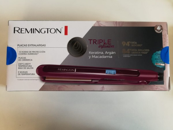 El nuevoalisador TripleInfusión de Remington, gracias a su combinación perfecta de keratina, aceite de argán y macadamia, hará que tu mamá consiga un pelo 94% más suave y con 84% más de brillo.