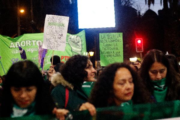 Marcha por el aborto libre en Valparaíso (Imagen: Agencia Uno)