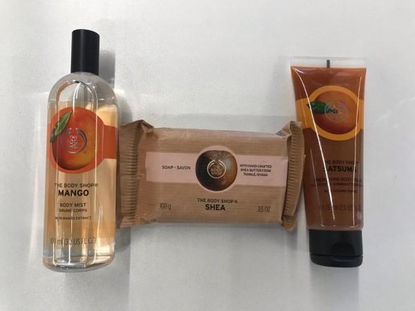 Deléitate con estos enriquecidos productos de The Body Shop  con aroma a Mango.