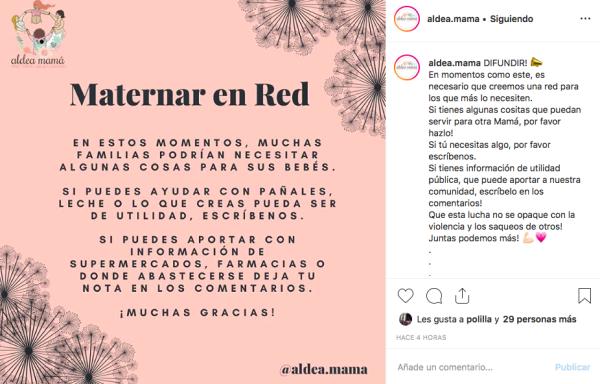 Imagen: Instagram @aldea.mama