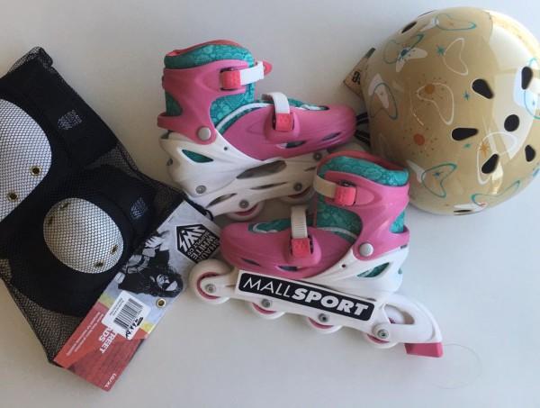Mall Sport quiere regalonear a los más pequeños y nos envió este set de patines para niños.