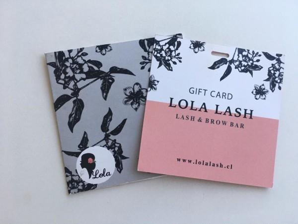Con esta giftcard de Lola Lash podrás canjear un liftings + tinte de pestaña en la nueva tienda que abirió en la tienda que recién abrió en Casacostanera.