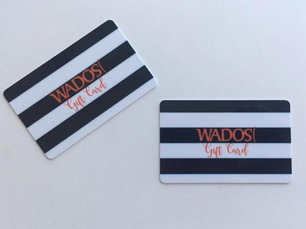 En esta Navidad Wados sorprende y por primera vez contará con gift cards en todas sus tiendas. Tienen una vigencia de un año y puedes usarla en diferentes ocasiones hasta que agotar su valor.