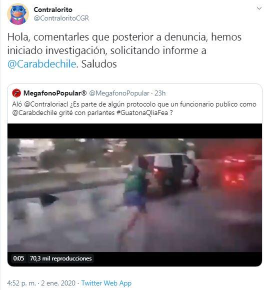 Imagen: Twitter @contraloriacl